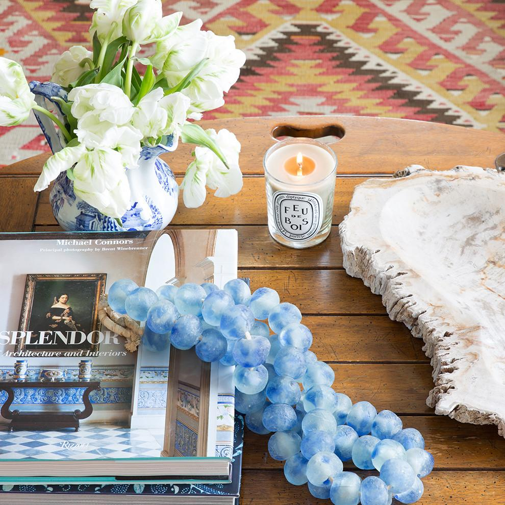 Light Blue Glass Beads from St. Frank Beads Decorative Beads are the perfect solution for How to style a coffee table