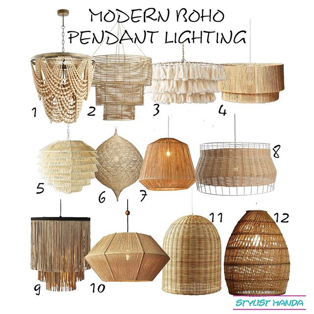 "Are you looking for the perfect modern boho pendant light to put in your room for an instant update? I'm super into woven pendants still and love the California casual vibe these give off ... I've been doing a little blogging on the side and have been super quiet about it on my social. 🤷🏻‍♀️ thousands of people have seen it on Pinterest, so I guess it's time to share it with you guys #edesign . . Do you guys suffer from sharing things you're actually proud of or happy about? I'm trying to get better at it. Give me your best ""power through it"" tip below 👇🏻 . Link in bio for all sources"