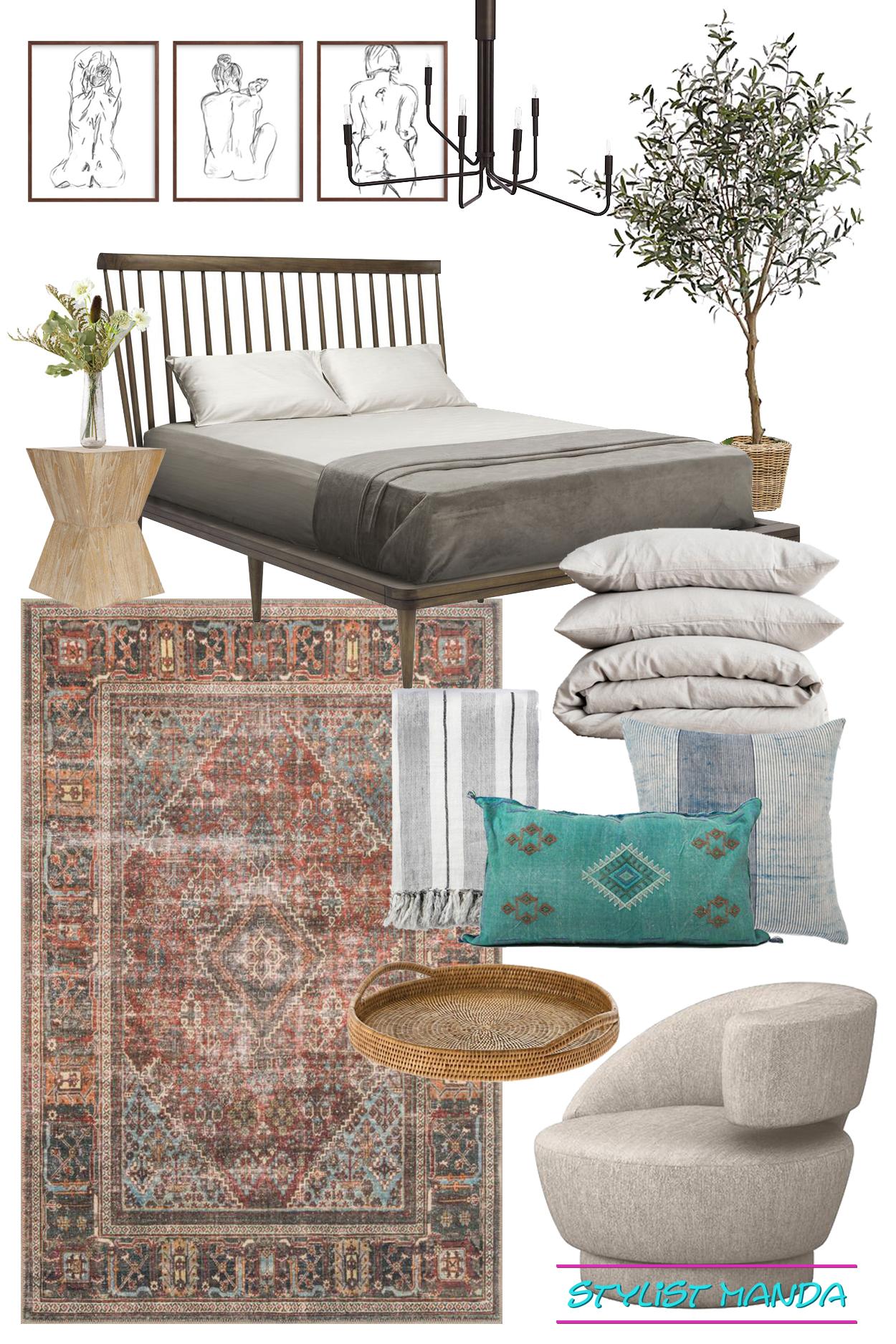 Bedroom Design California Casual vibe a shoppable design