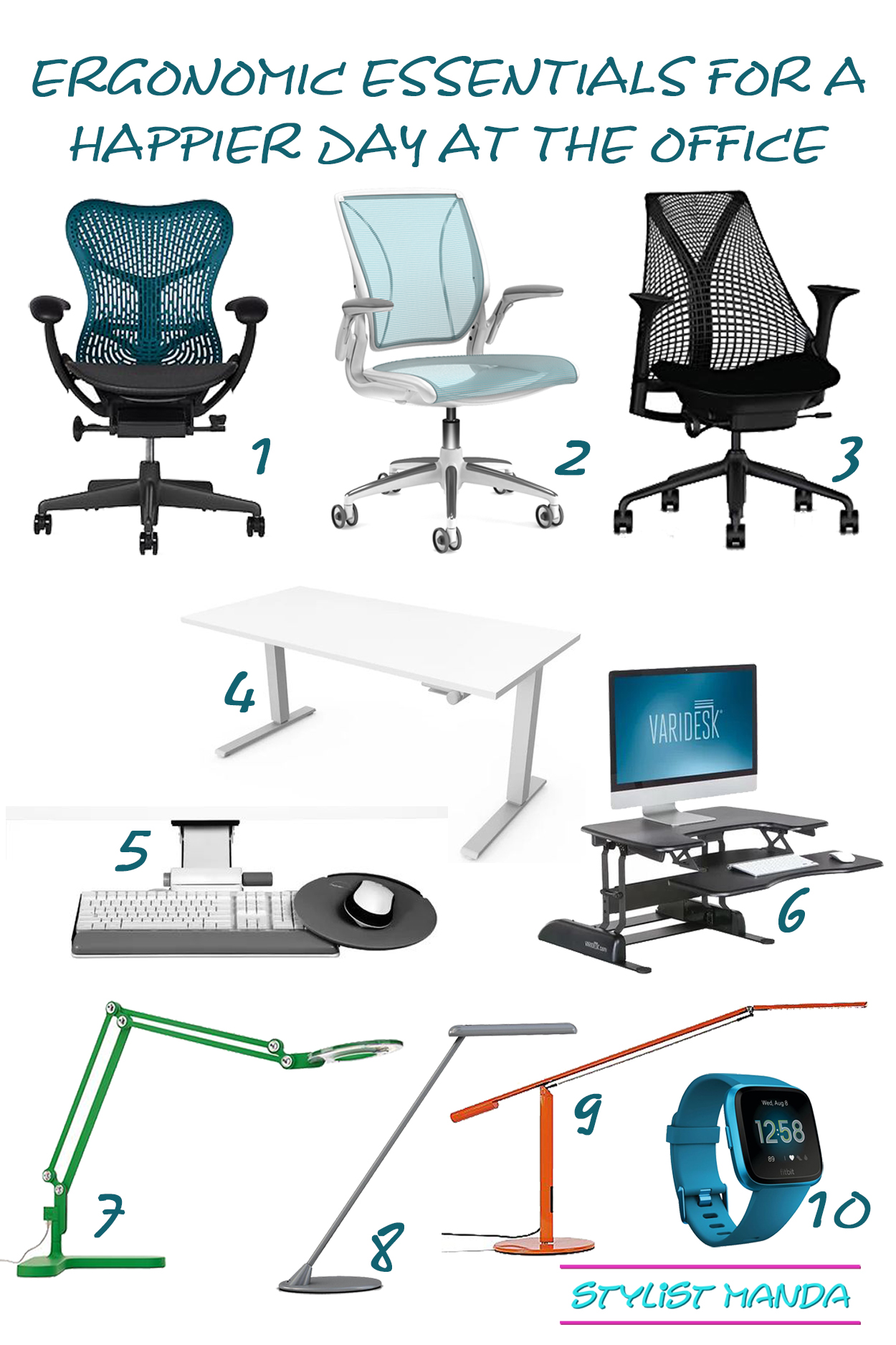 ergonomic essentials for a happier day at the office