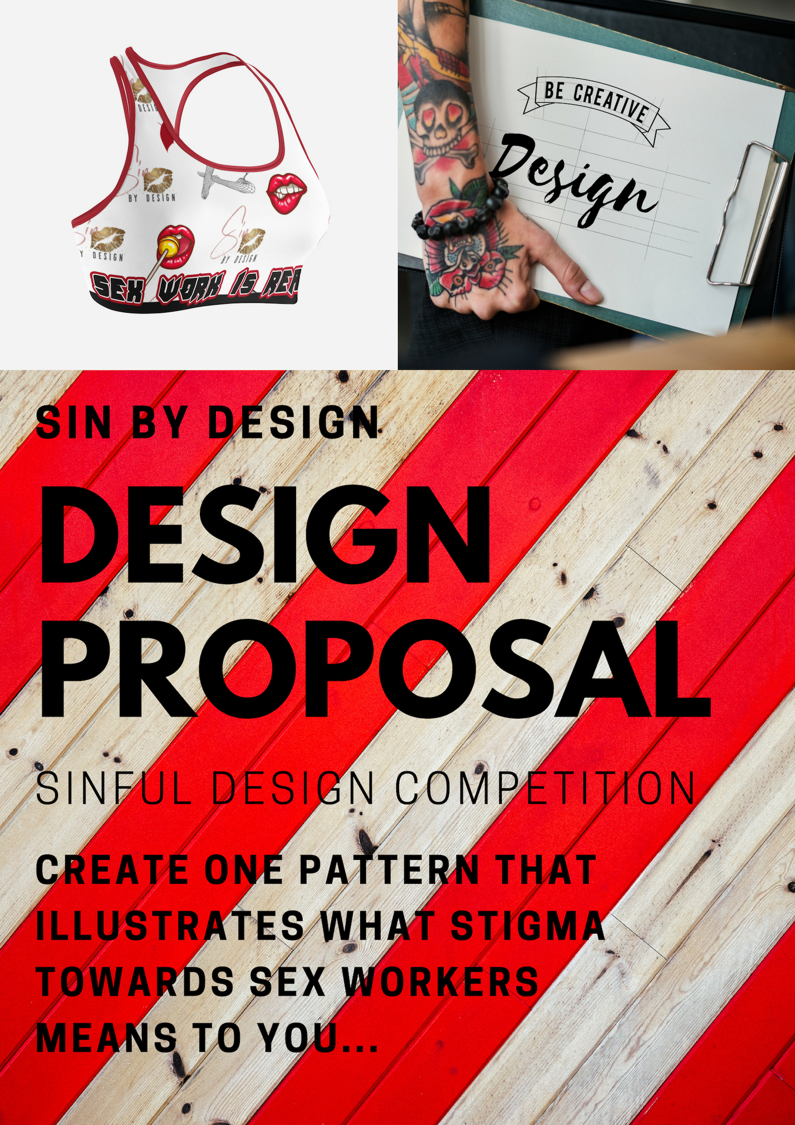 sin by design  sinful design competition  raise awareness