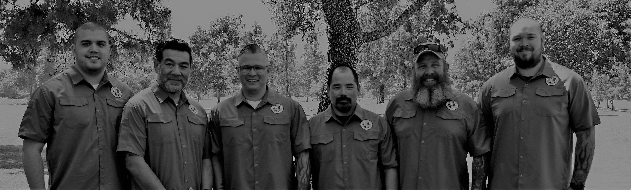 Ordered from left to right: Tyler Saichompoo, Hank Jessop, Mark Saichompoo, Scott Tsuda, Bobby Rumsey, Zakkary Saichompoo