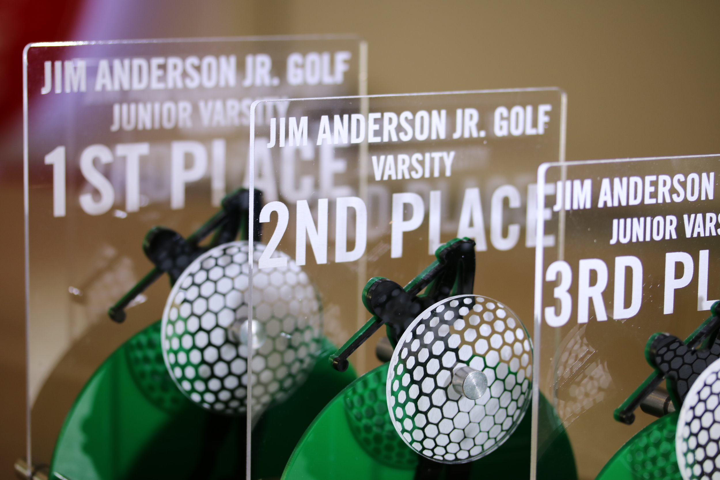 Jim Anderson Junior Golf Tournament - Varsity and Junior Varsity Awards  Contact us for pricing information.