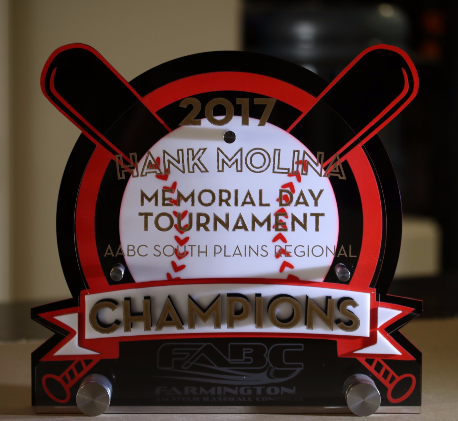 American Amateur Baseball Congress - Memorial Day Tournament Champion Award  Contact us for pricing information.
