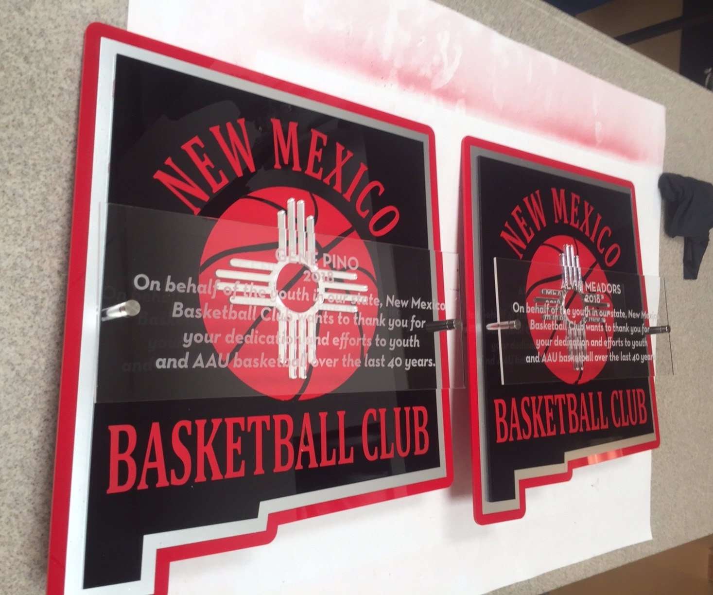 New Mexico Basketball Club - Appreciation Award  Contact us for pricing information.