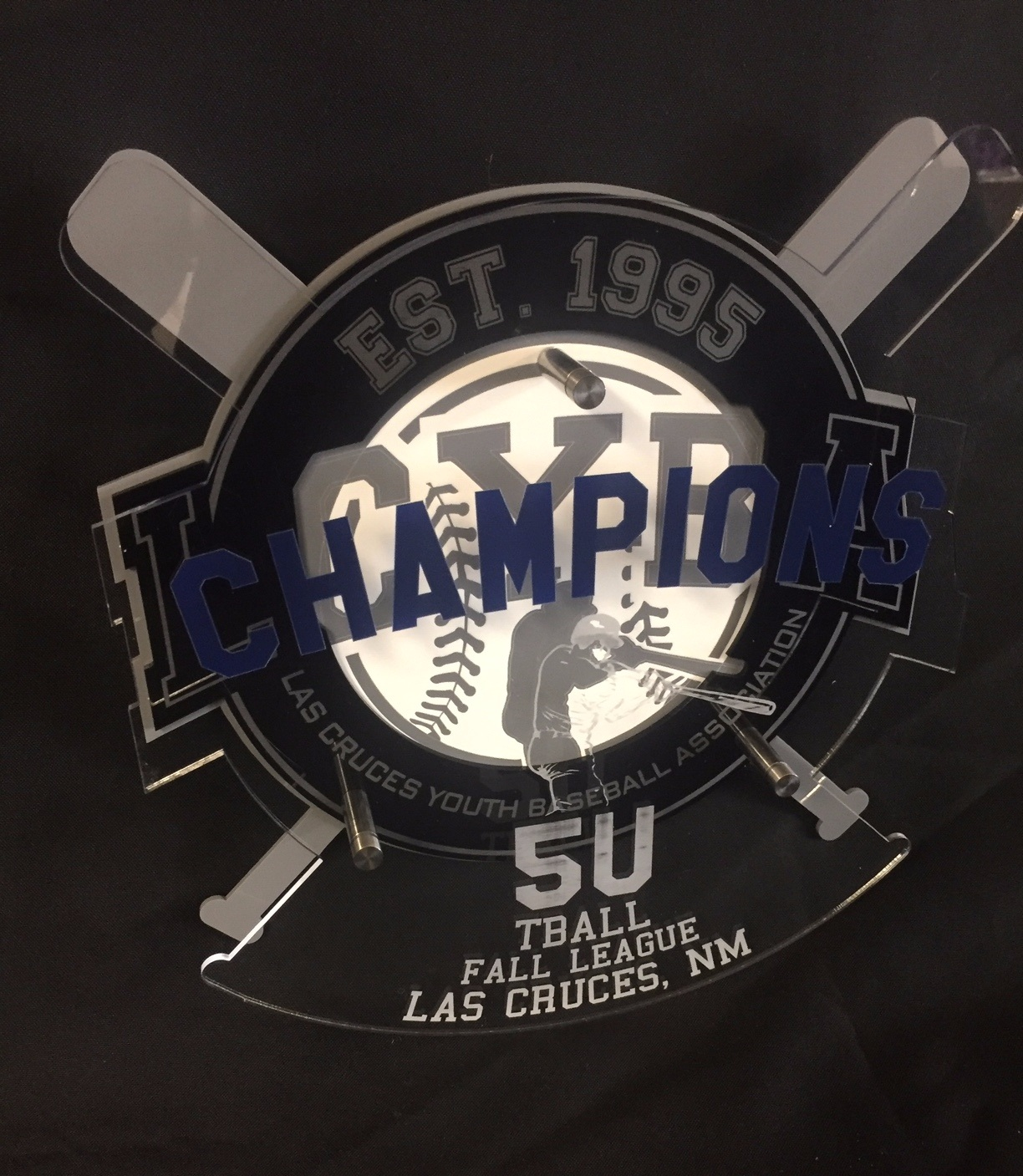 Las Cruces Youth Baseball Association - Champion Award  Contact us for pricing information.