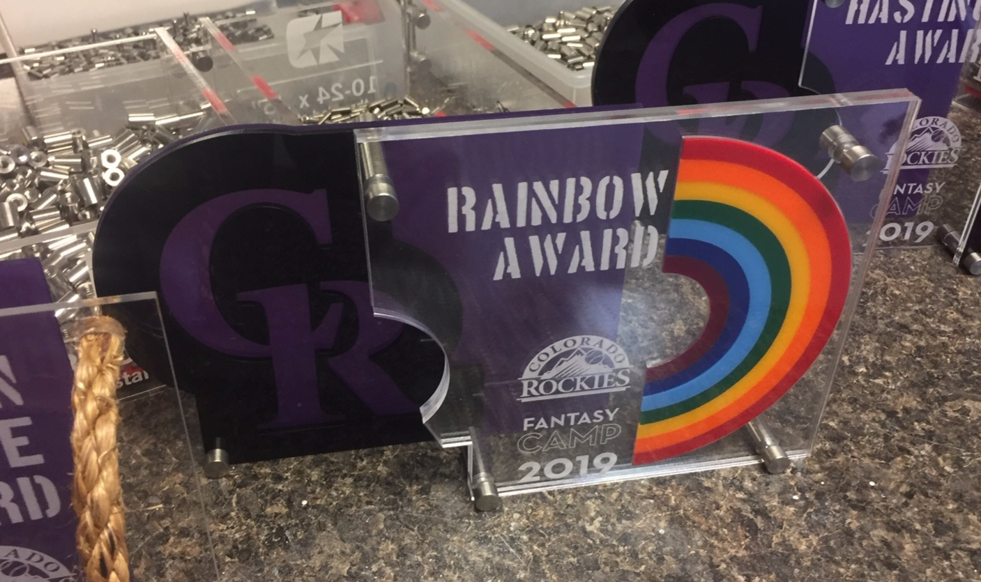 Colorado Rockies Fantasy Camp - Rainbow Award