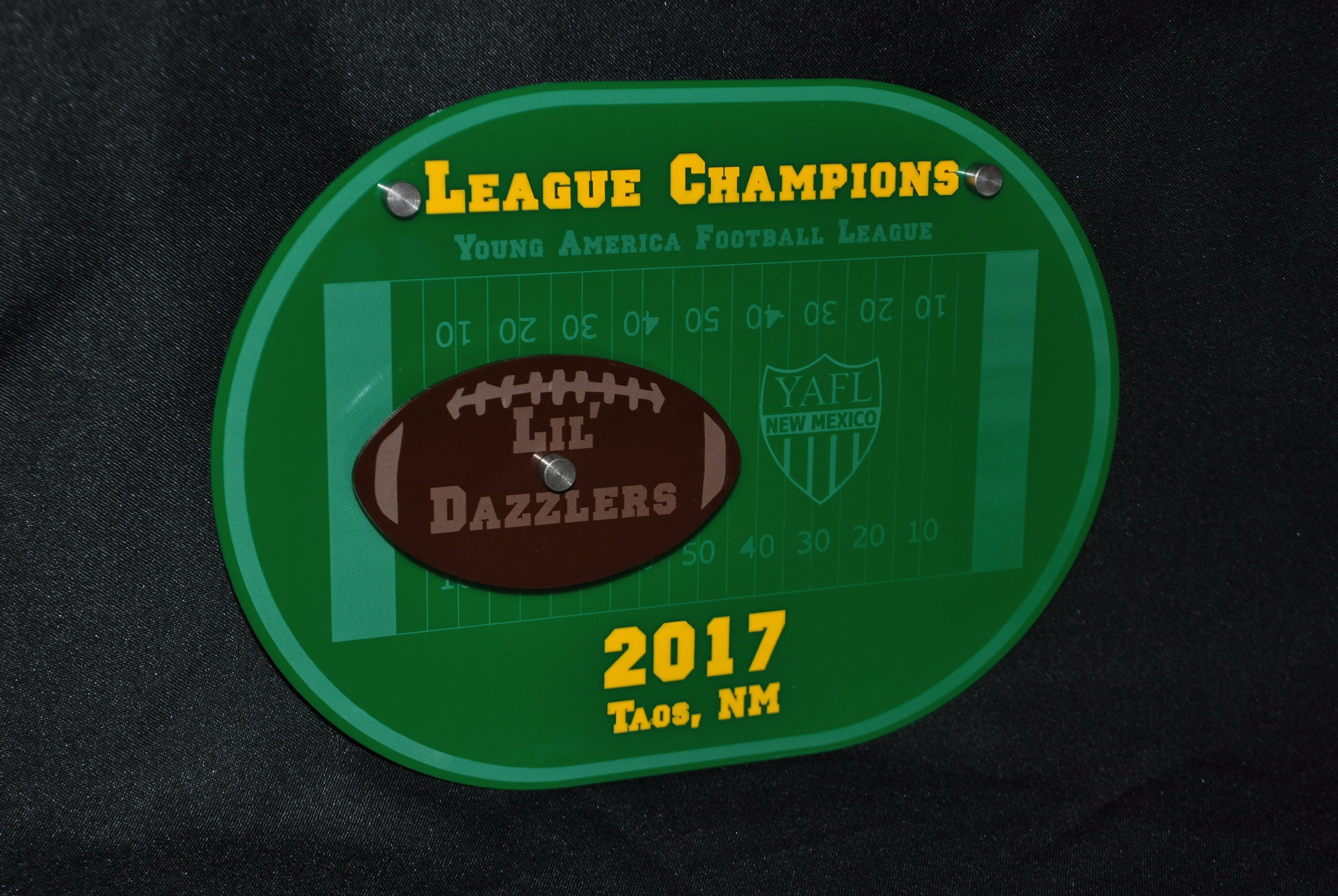 Youth Football - Stock design large size Award  Contact us for pricing information.
