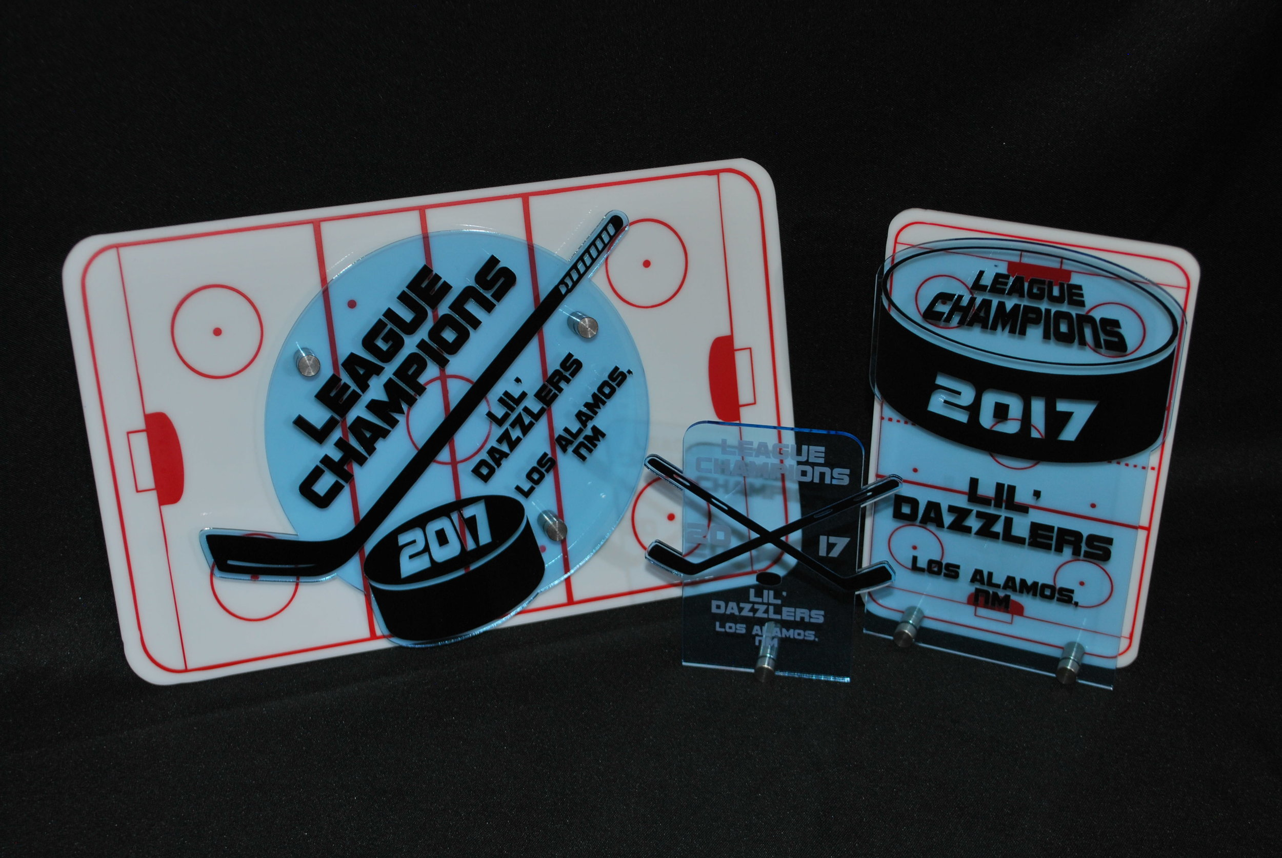 Youth Hockey - Stock Hockey Award Designs (Small, Medium, Large)  Contact us for pricing information.