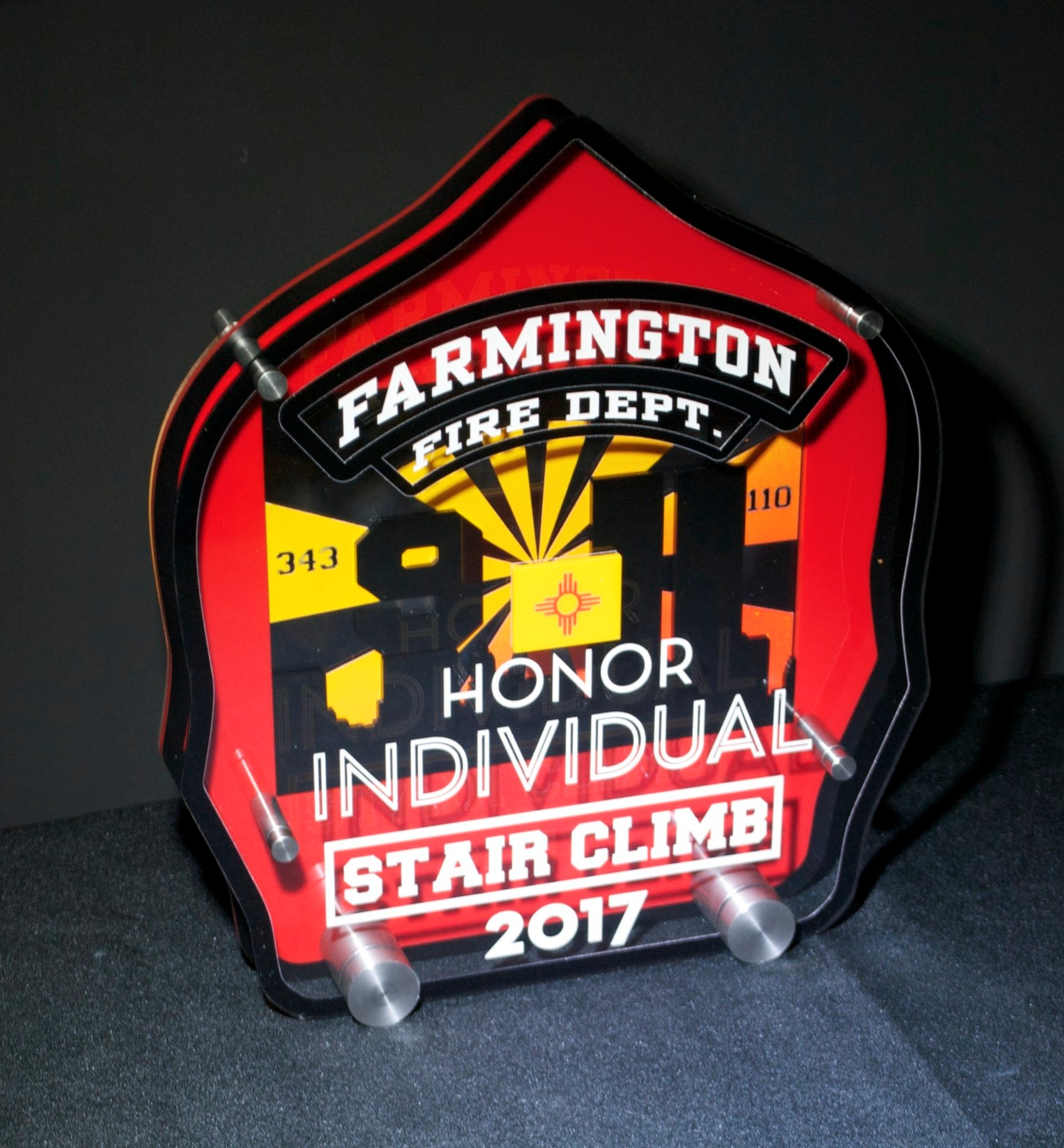 Fire Department - 2017 Stair Climb Award  Contact us for pricing information.