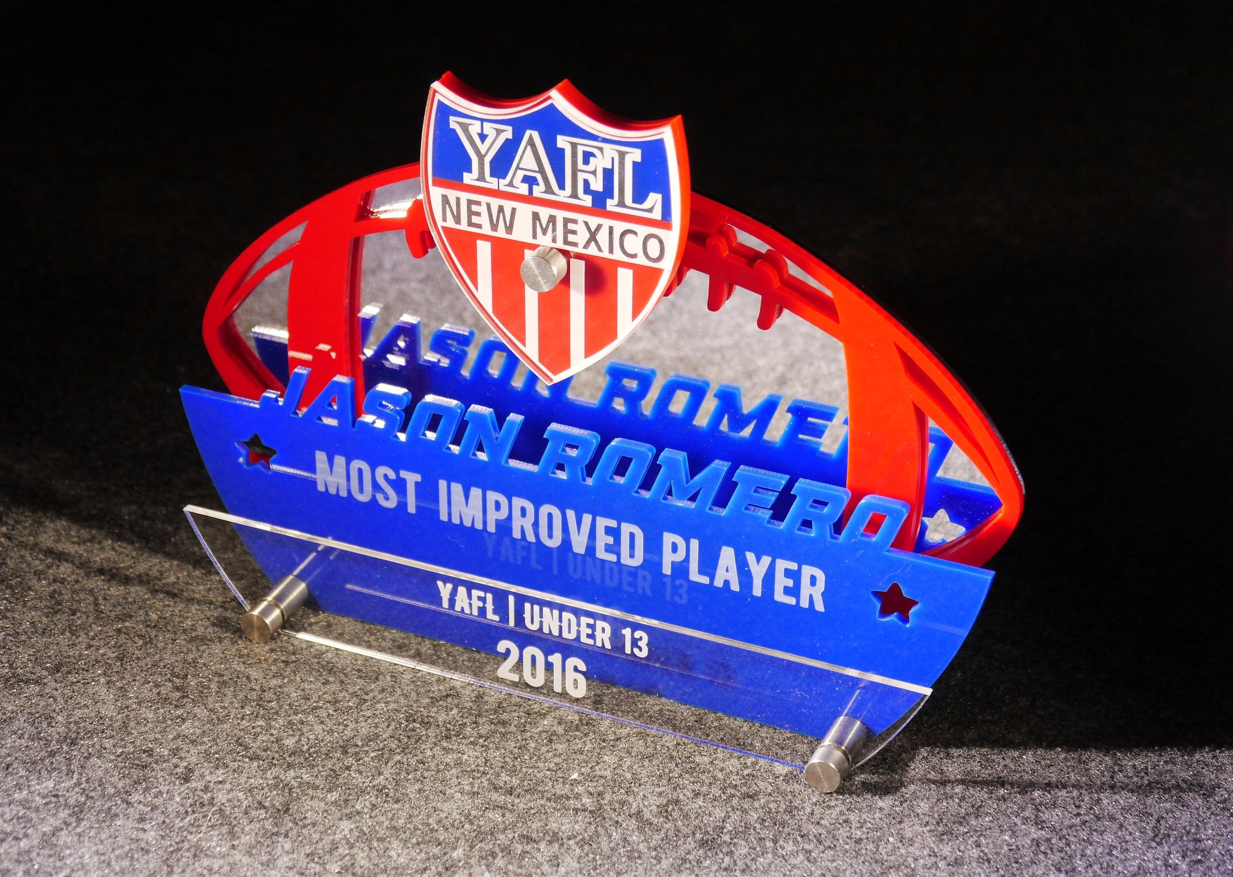 YAFL - Football League Most Improved Player Award  Contact us for pricing information.