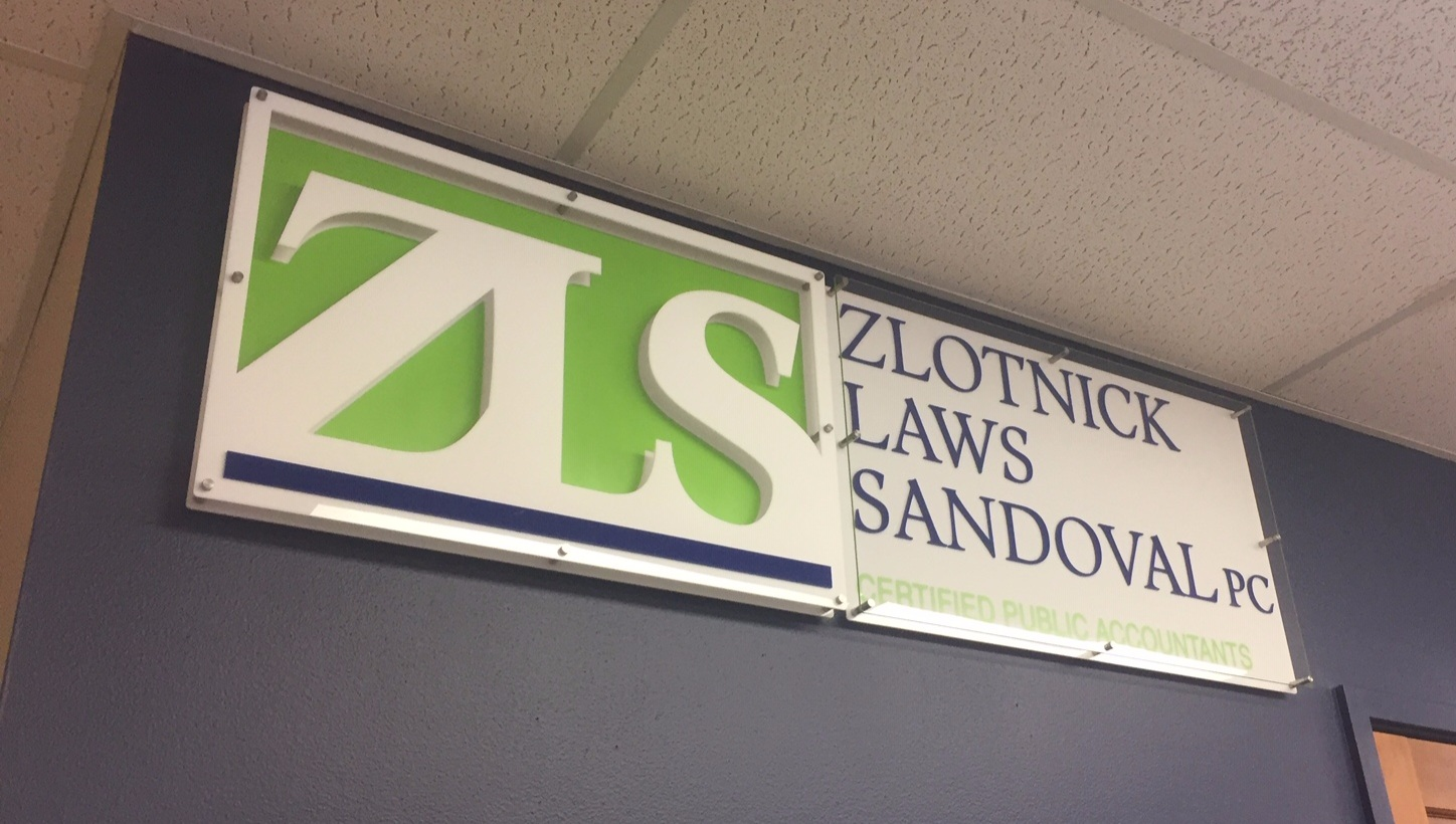 Corporate Signage - Logo-based, 3-D, panelized signage.   Contact us for design and pricing information.