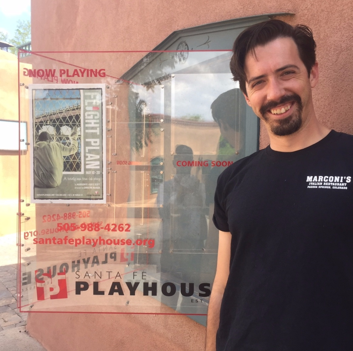 Marquis Signage for the Santa Fe Playhouse - current, future, past shows and photographs can be placed in an interchangeable display.  Let us design a custom installation that will Dazzle your clientele.