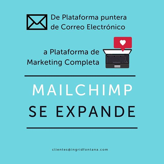 🔊 Si te habías olvidado de Mailchimp, ¡aquí lo tienes más vivo que nunca!⠀ ⠀ La conocida plataforma de email marketing nos sorprende con novedades, y se expande hacia una plataforma de marketing completa 😃👏⠀ ⠀ 👉 En la bio te dejo el link a la noticia, vía TechCrunch.⠀ ⠀ Mailchimp expands from email to full marketing platform, says it will make $700M in 2019 | TechCrunch⠀ ⠀ ⠀ #IngridFontana #GestiónDigital de #Pymes #igersleonesp #leonesp #marketingdigital #email #emailmarketing #newsletter #mailchimp #news #nuevo #gestion