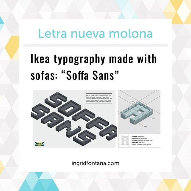 "🙀👏 Ikea typography made with sofas: ""Soffa Sans"" | Telling Advertising ⠀ ⠀ Toma ya castaña, IKEA crea su propia tipografía. ՕʍՑ!!⠀ ⠀ 👉🏻 https://buff.ly/2NH2Pbr⠀ ⠀ ⠀ #tipografias #letras #letrasbonitas #letra #branding #brandingdesign #personalbranding #brandingidentity #marca #marcas #logomarca #logo #logos #logoinspiration #logodesigns #montserrat #lato #fonts #fontstyle #instafonts #igersleonesp #leonesp #ingridfontana #gestióndigital #pymes"