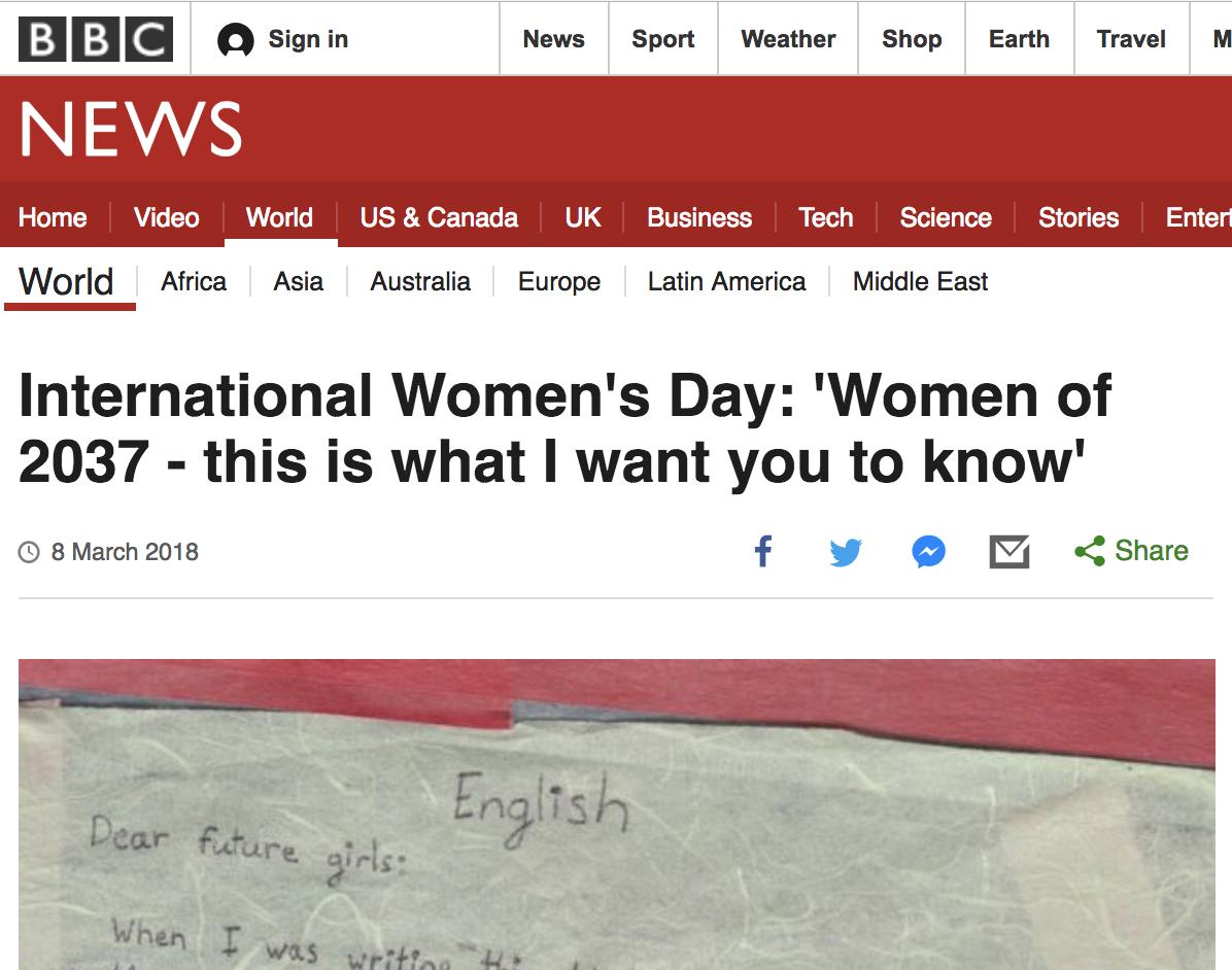 BBC_To Future Women_Georgia Saxelby