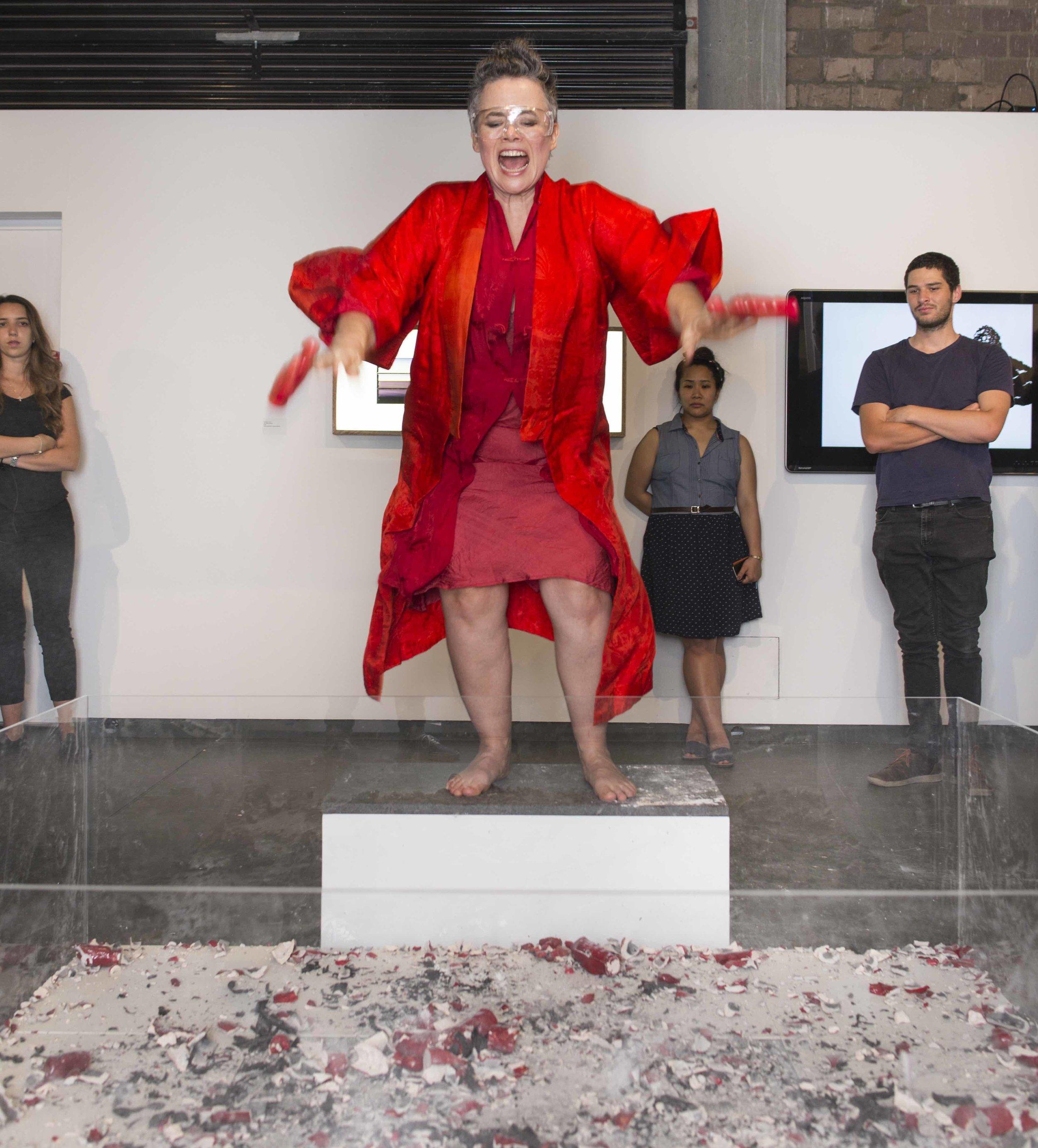 Guest performance by artist Liz Hogan