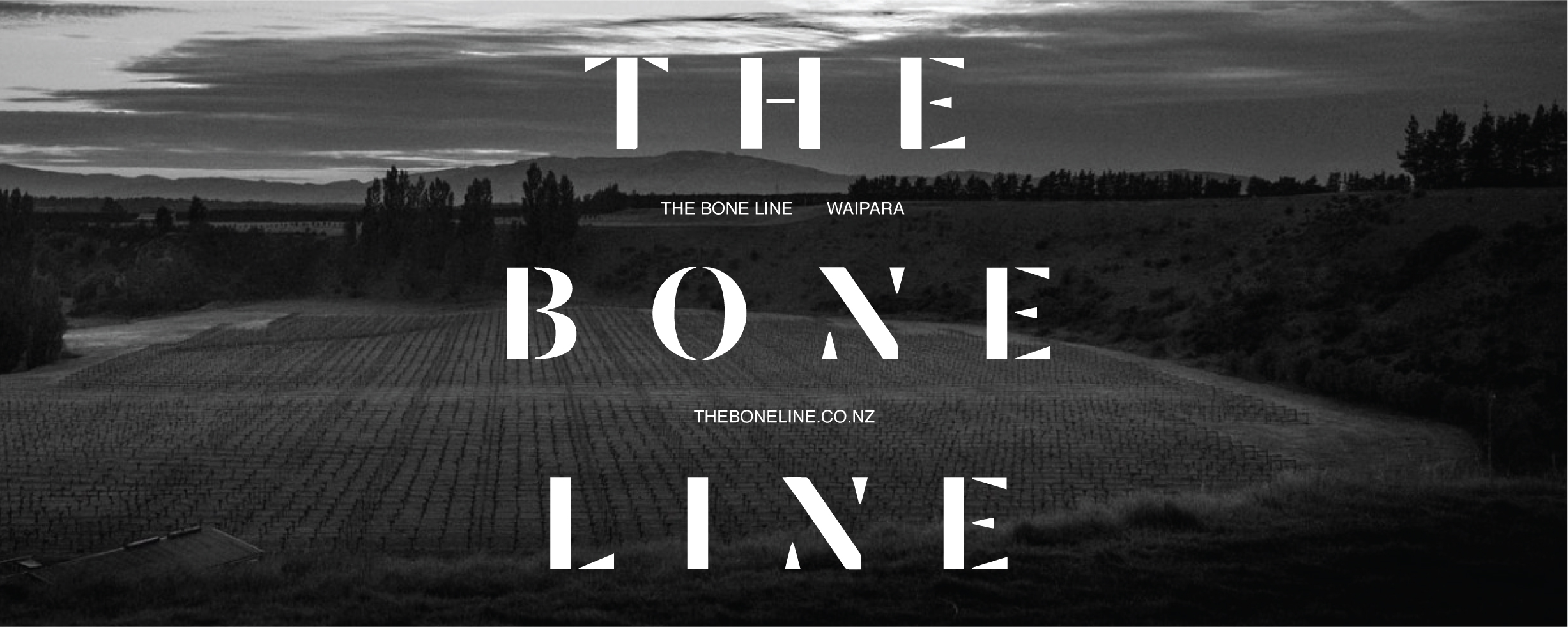THE BONE LINE    WAIPARA, NZ   The Boneline is situated deep in the Waipara Valley, snuggled in the lee of the Teviotdale hills that provide protection from cool easterly winds but open to warming north west winds. The protective Southern Alps ensure low rainfall, abundant sunshine and often very warm summers, helped by the famed hot, dry nor'wester winds, though cooling sea breezes and the occasional cold southerly fronts temper this. Drought risk is mitigated by irrigation. Canterbury's long dry autumns coupled to good diurnal variance help provide phenolic ripeness, complexity and a variety of styles.  Named in reference to the K-T Boundary line which runs through the Waipara Valley near their vineyard, each of the wines made by The Bone Line features dinosaur fossils found in the area. Dating back as far as 65 million years, these serve as evidence of the global catastrophe of an asteroid impact on the earth and the end of the Mesozoic Era and the extinction of the dinosaurs.  These bones represent the tangible connection each wine has with the land where the fruit is grown, old vines and the family partnership of Tutton Sienko & Hill's growing experience.