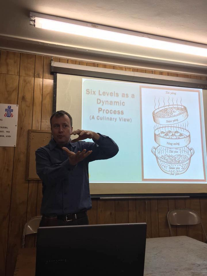 Jason Robertson teaching in Seattle, WA in 2016.