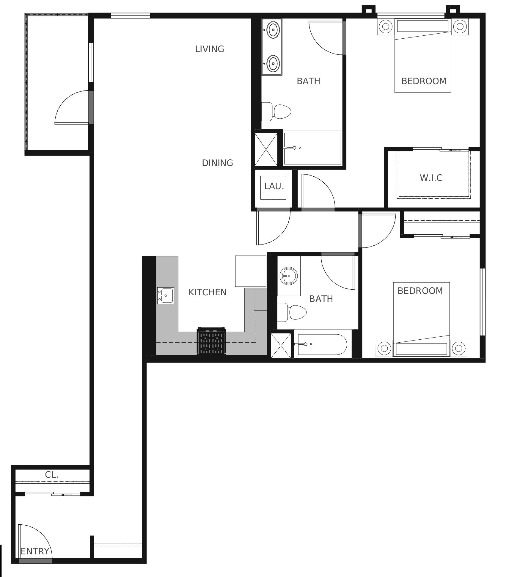 Plan B4 - 1,148 sq. ft.