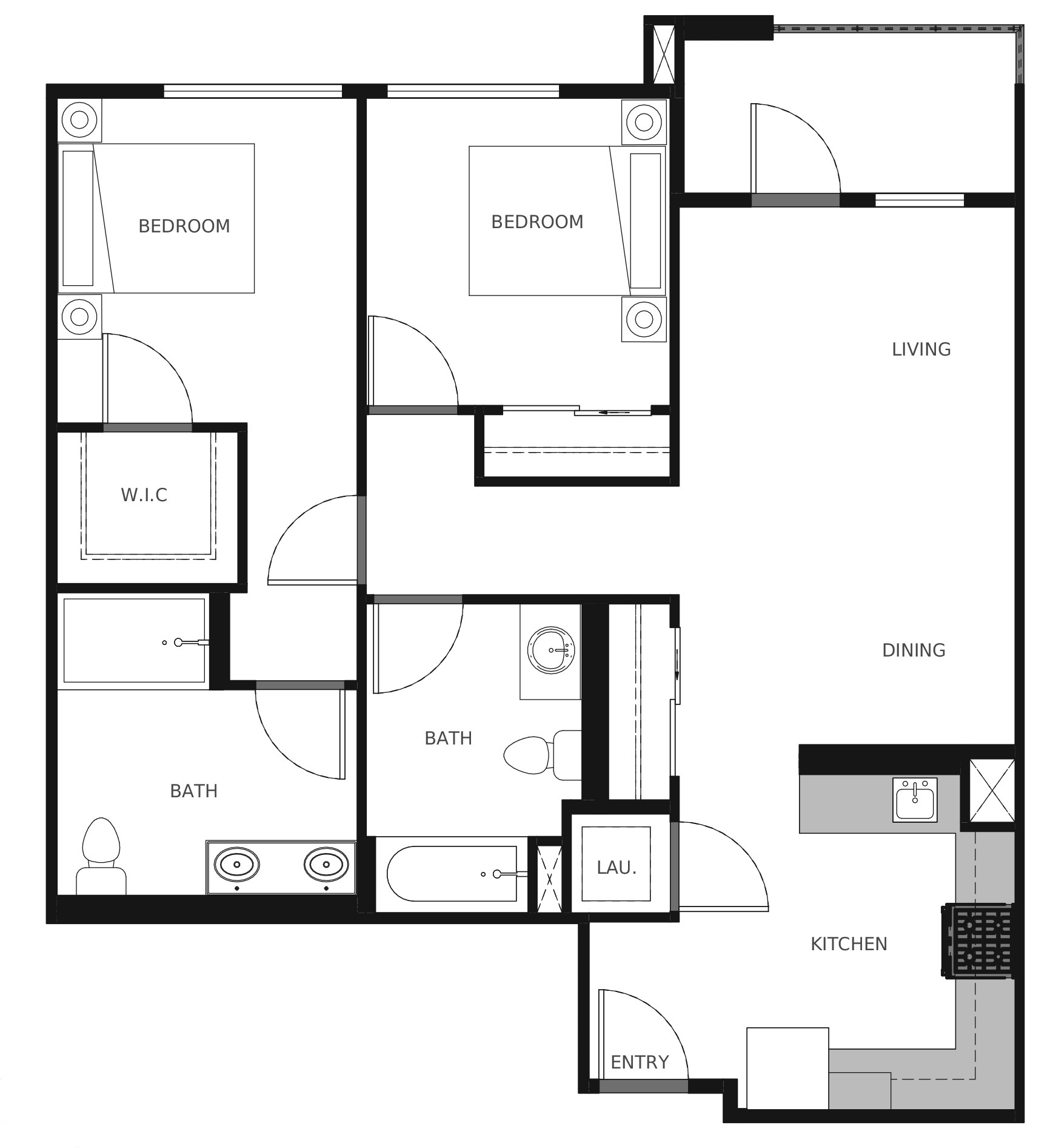 Plan B5 - 901 sq. ft.