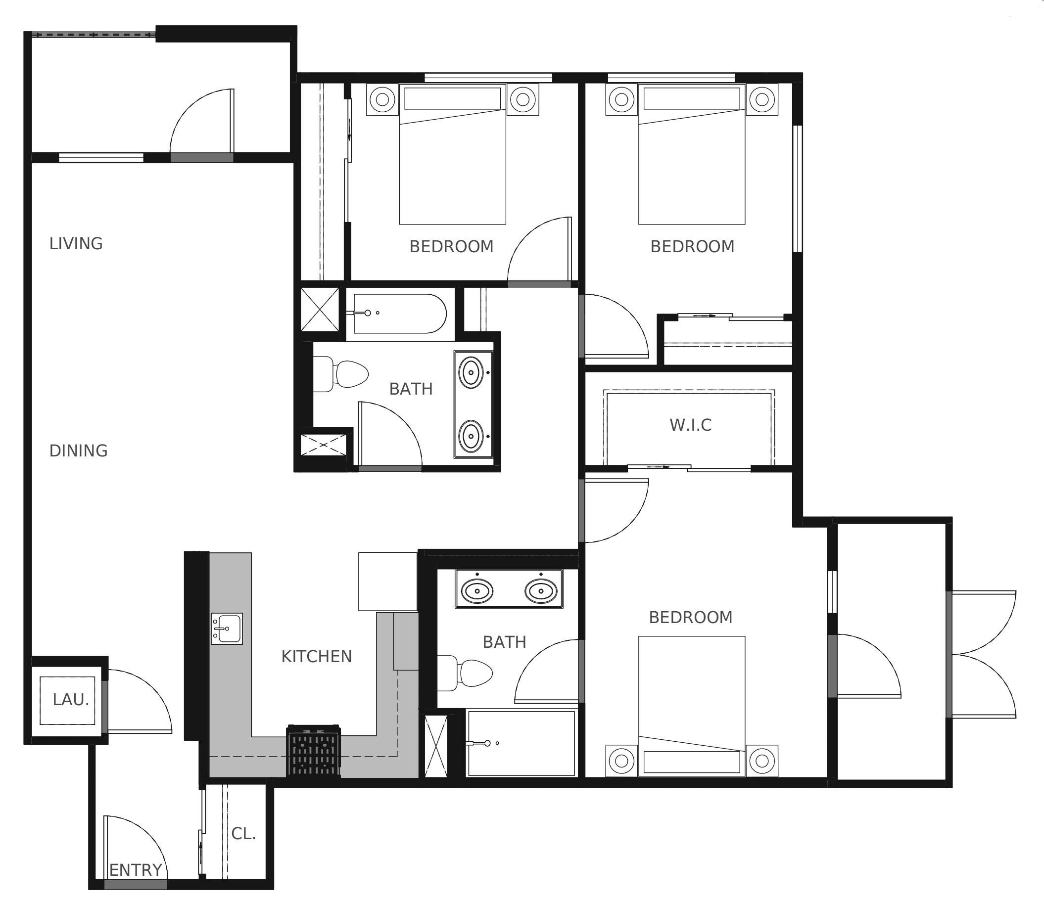 Plan C2 - 1,154 sq. ft.