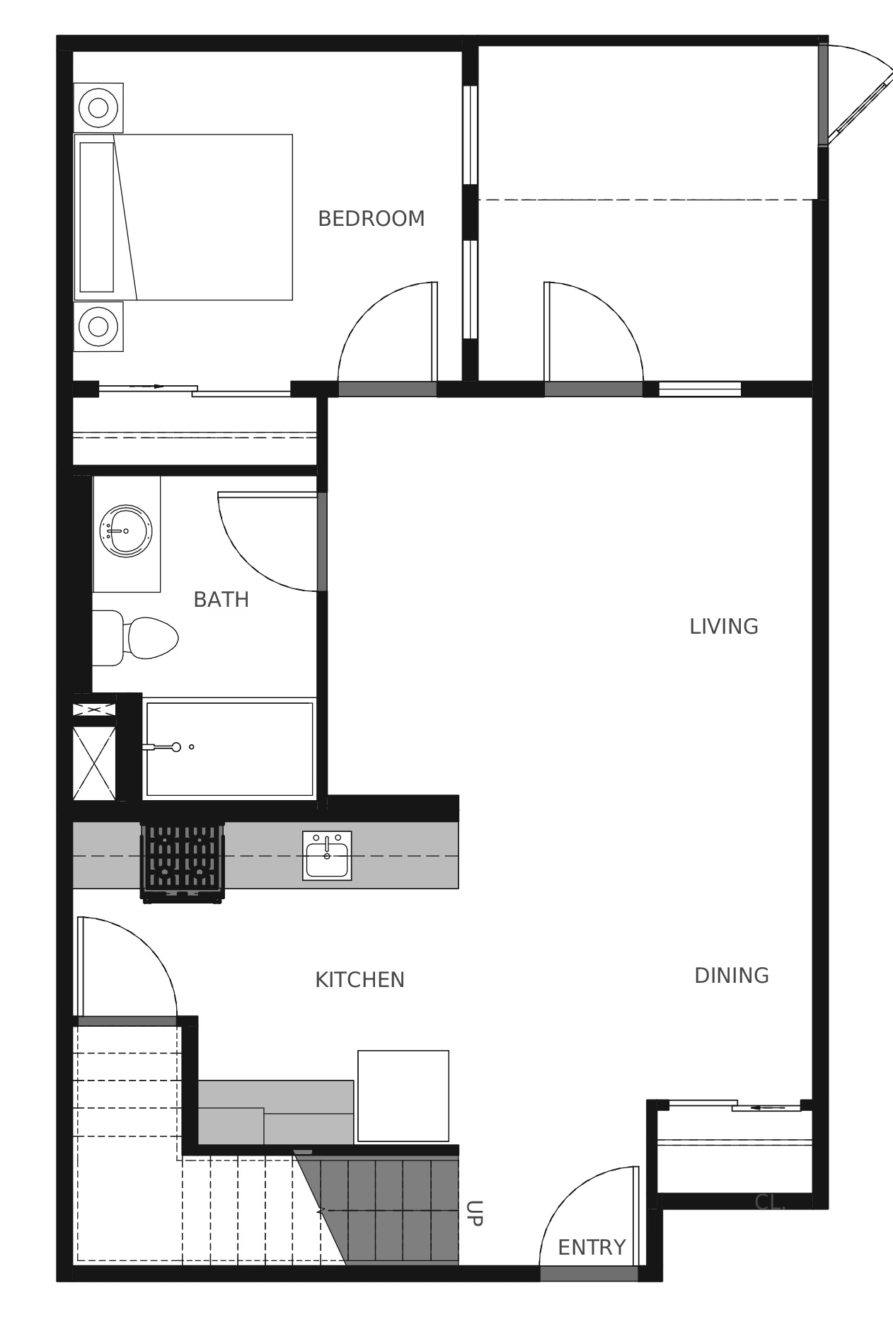 Plan C4 First Floor - 1,366 sq. ft.