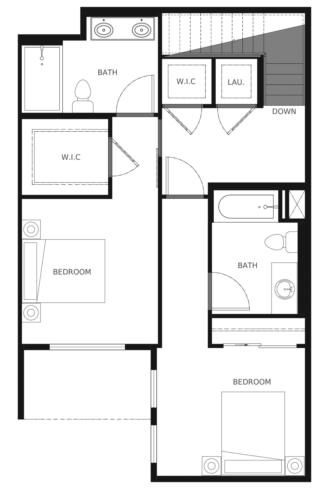 Plan C4 Second Floor - 1,366 sq. ft.