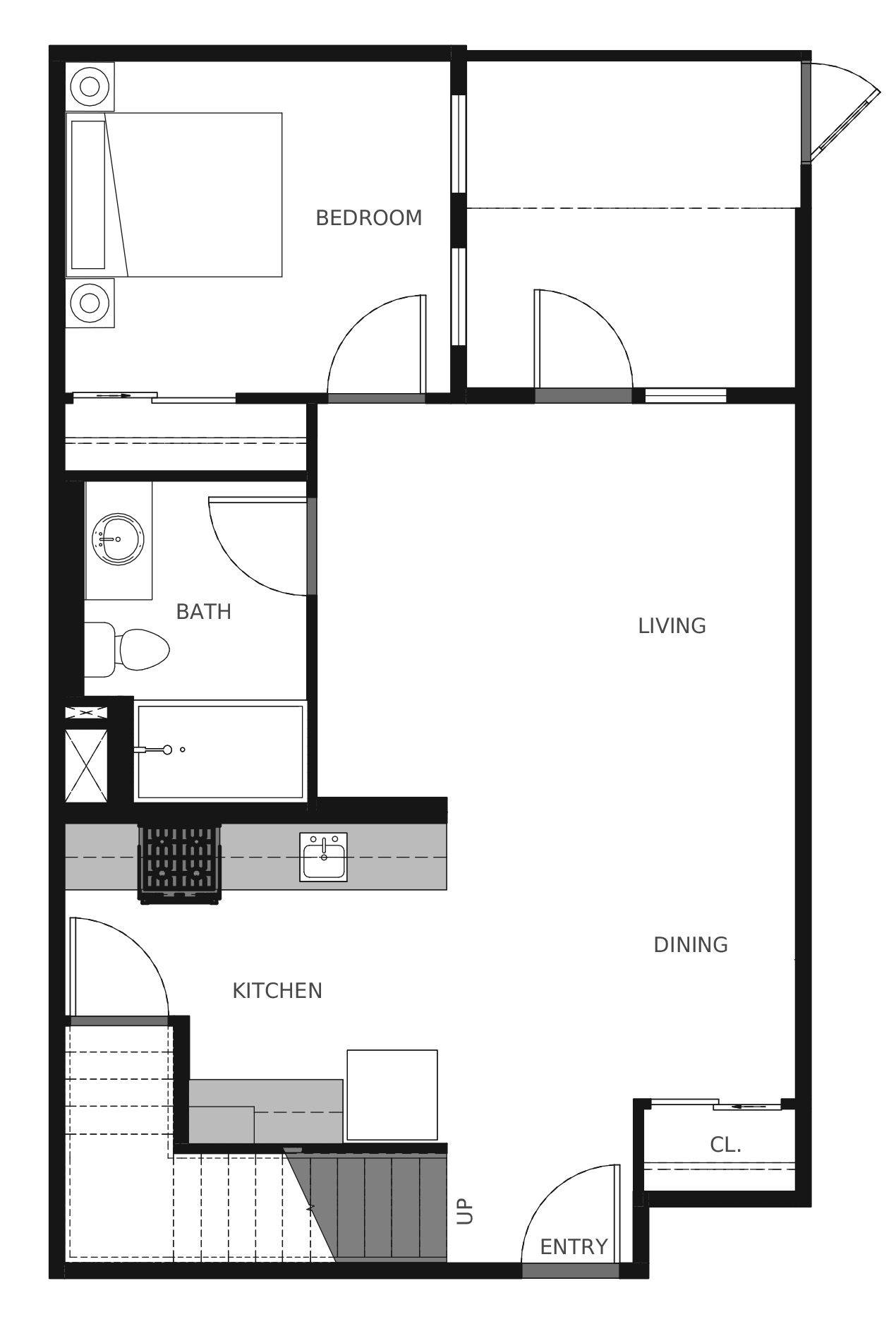 Plan C4a First Floor - 1,602 sq. ft.