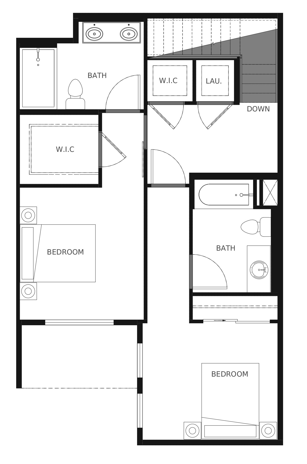 Plan C4a Second Floor - 1,602 sq. ft.