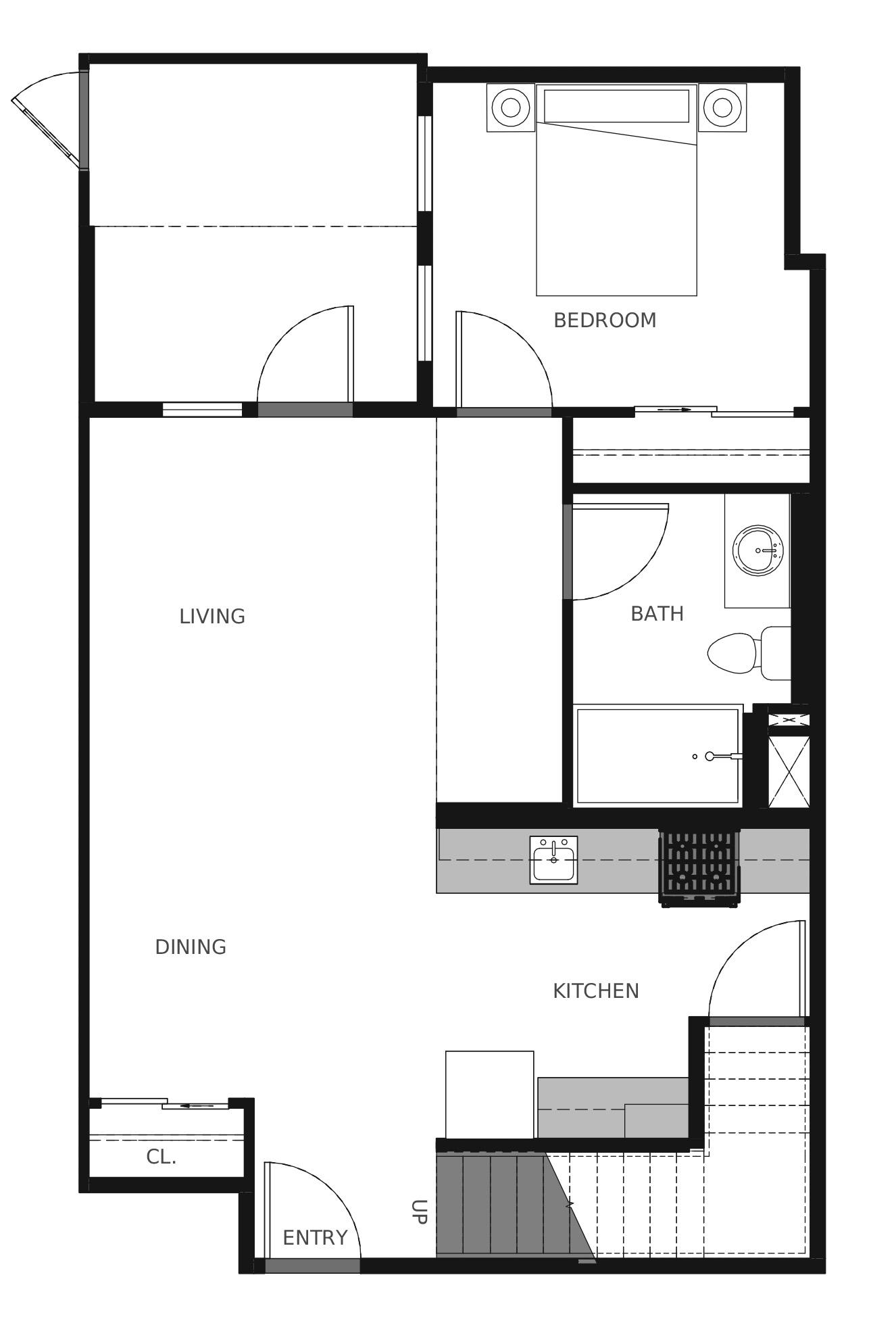 Plan C4b First Floor - 1,356 sq. ft.