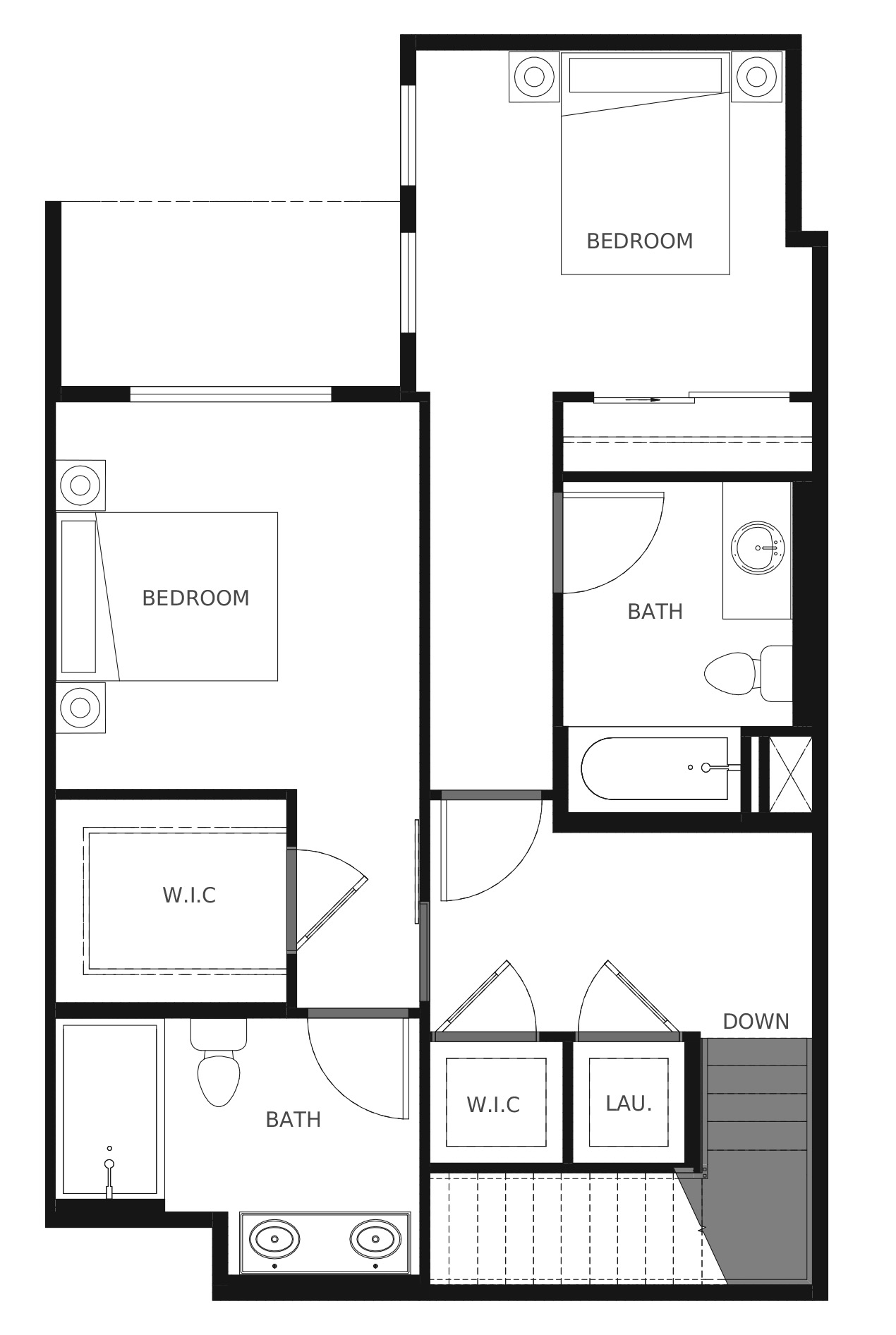 Plan C4b Second Floor - 1,356 sq. ft.