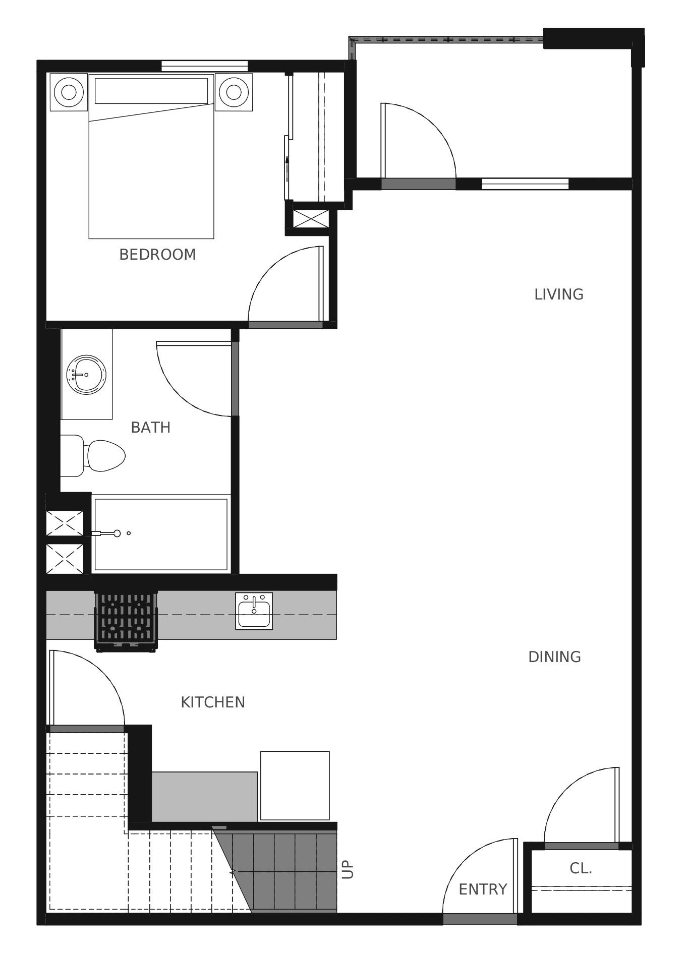Plan C5 First Floor - 1,444 sq. ft.
