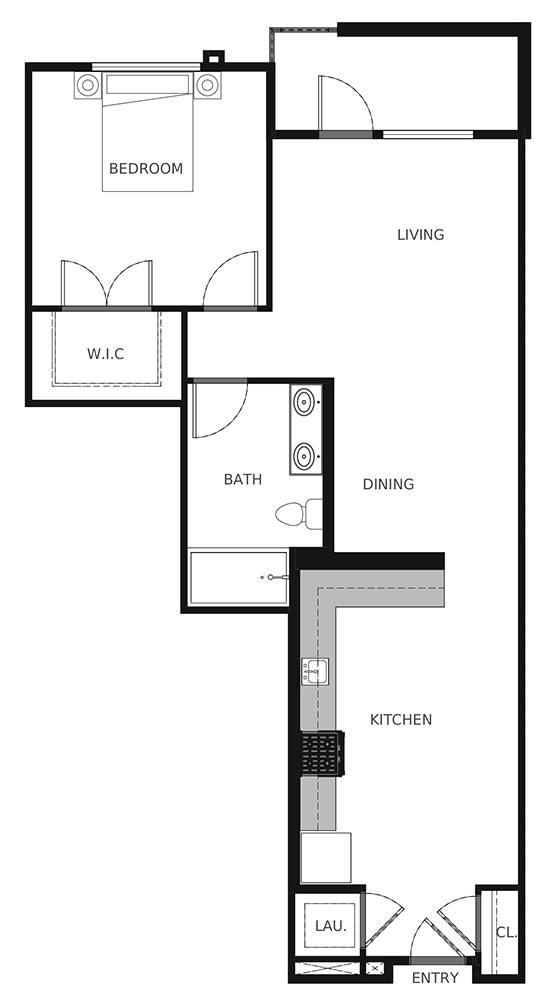 Plan A4 - 865 sq. ft.