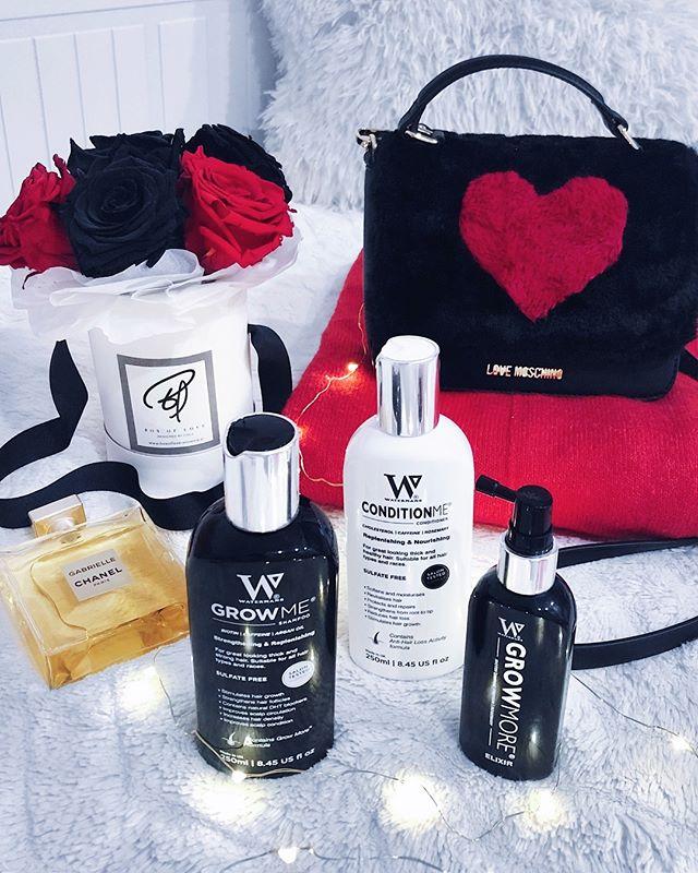 """Valentine essentials... 🌹💆🏻♀️❤️👌 • • Valentinovo se bliža in vsepovsod imamo na razpolago že takšna ali drugačna darila... no, za tole sem prepričana da bo večini všeč! Najbolj priljubljen in """"močan"""" trojček za nego in hitro rast las. 🖤👌 Drage moje, malce namignite svojemu moškemu, da je pri @watermansslovenija Valentinov popust in to z eno najlepših kod LJUBIMTE, ki ti prinese -20% popusta na vse izdelke. Koda velja do 15.2. ☺️❤️🖤❤️ • • #haircaretips #haircareproducts #naturalcosmetics #slovenia"""