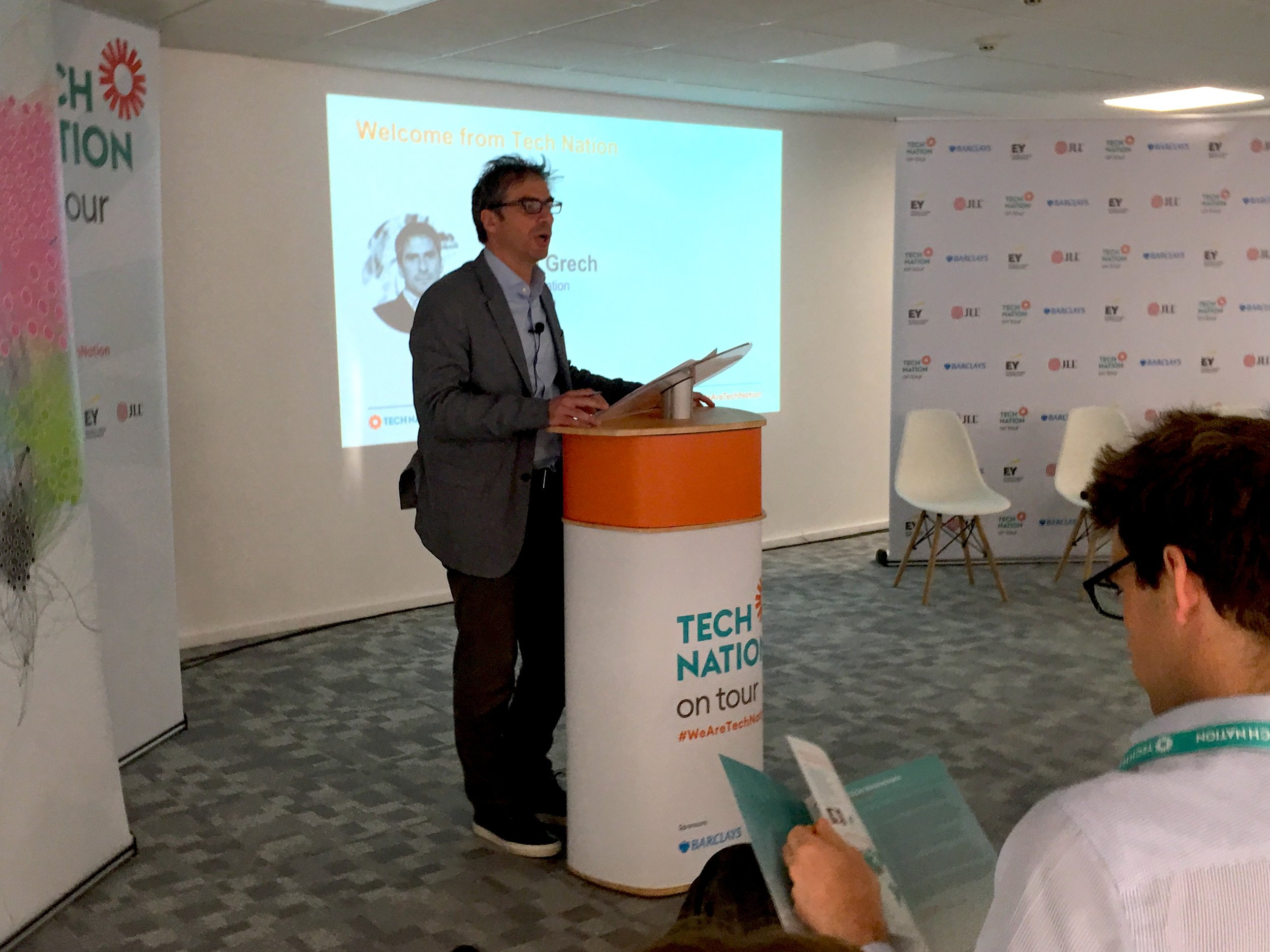 TechNation CEO Gerard Grech in TusPark