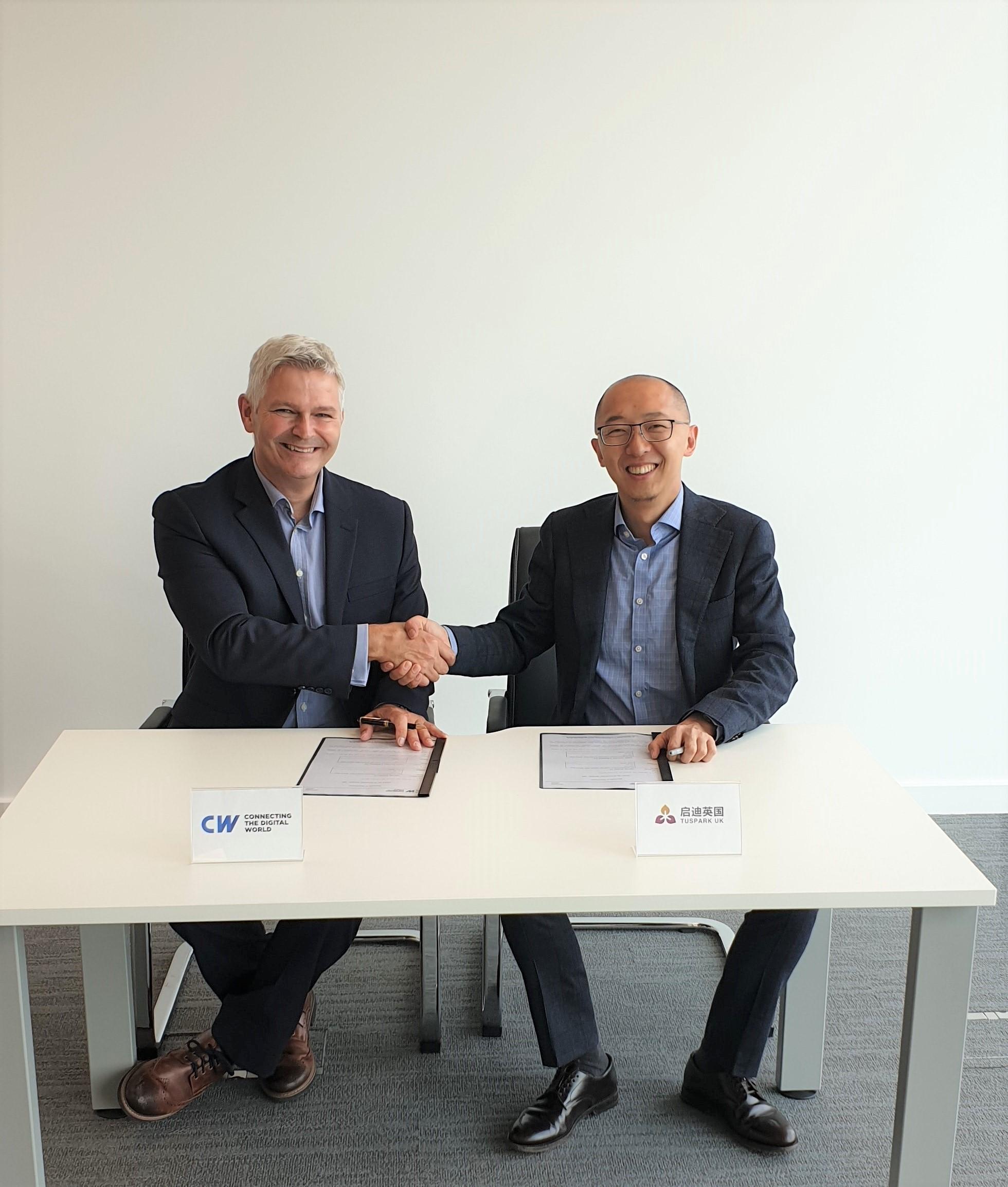 CW CEO    Simon Mead    & TusPark UK President    Kevin Lin