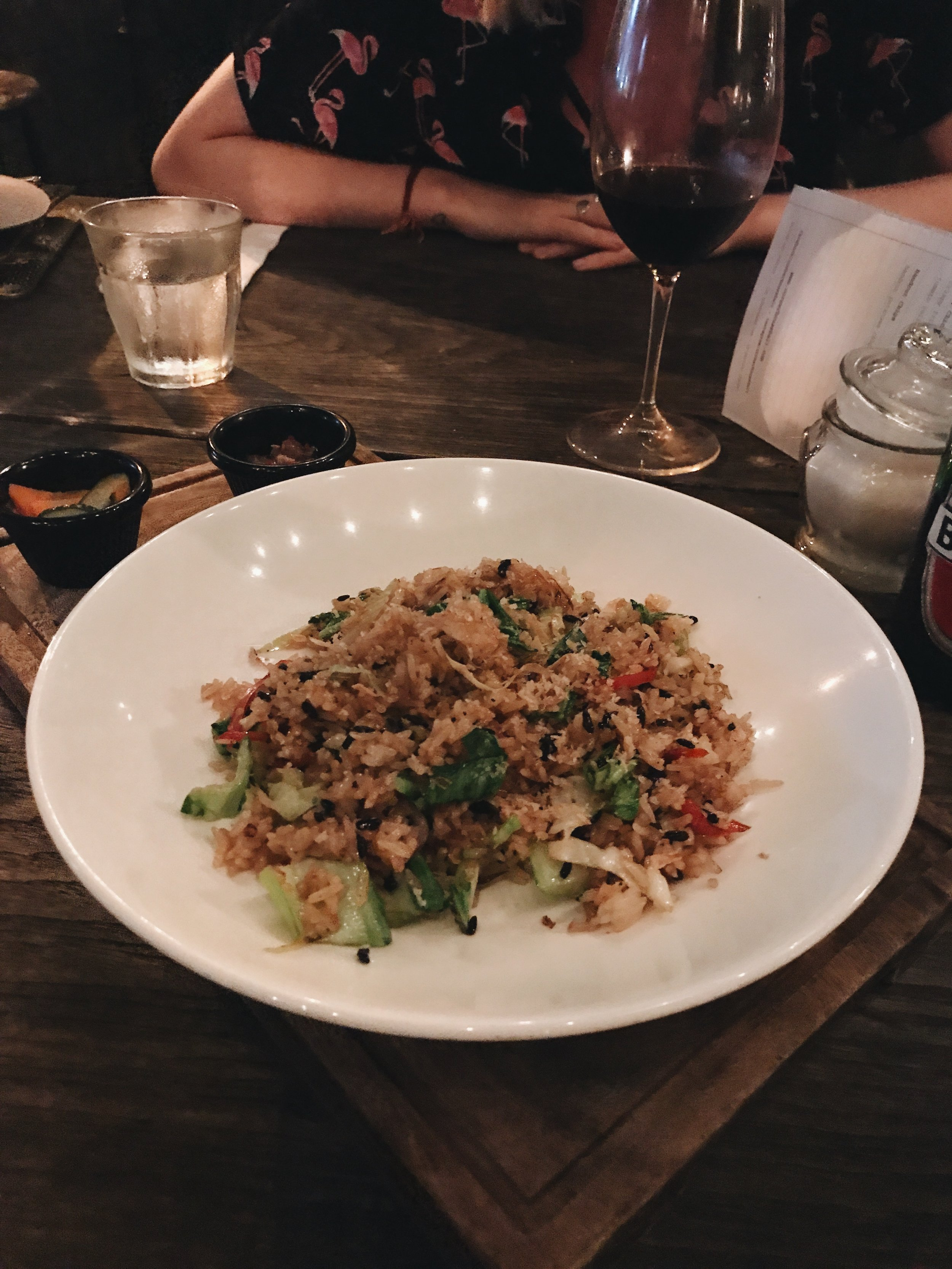 Vegetarian nasi goreng with no eggs