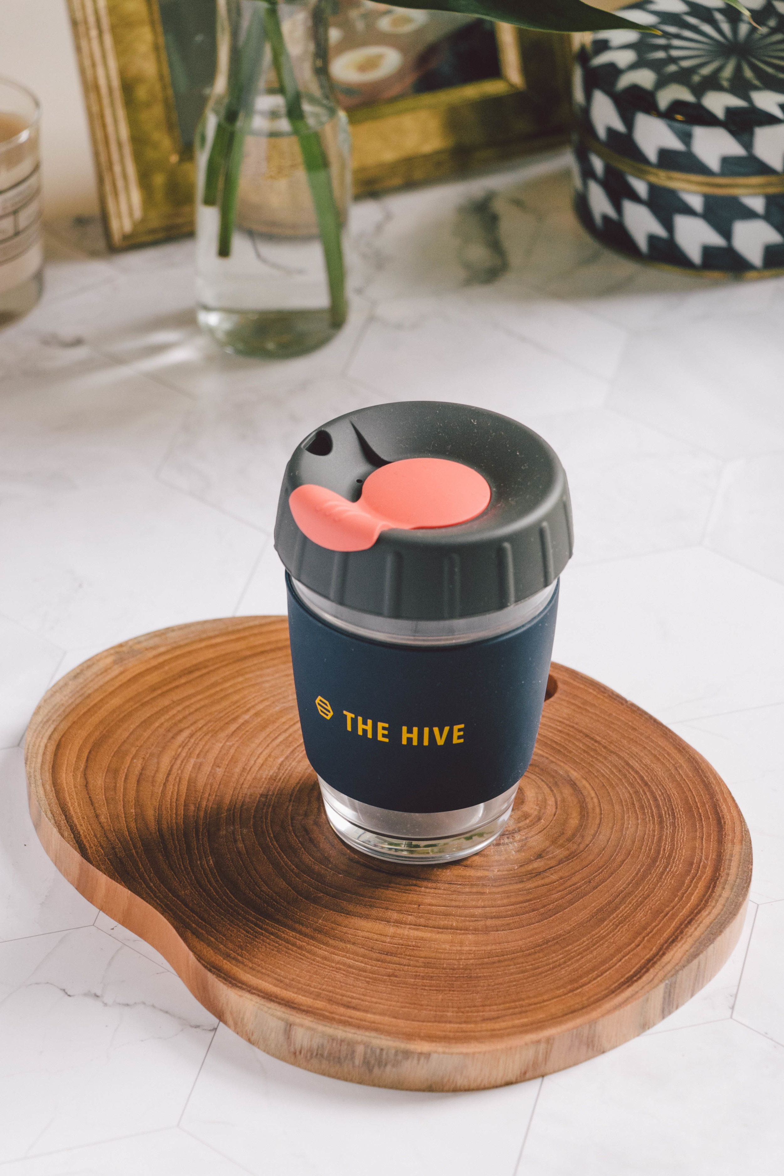 The Hive Glass Cup Tumbler - You all know I'm not a coffee drinker, but I do love a good alternative latte—matcha, beetroot, turmeric and cacao are my favourites! While it may be easier to takeaway your drink in a disposable cup, having your own that you can reuse every time is a much more sustainable option that will help reduce waste and single-use plastics.I love the quality and design of The Hive Glass Cup Tumbler. The glass is thick and feels so durable while the silicone lid makes it easy to drink from while preventing any spills.