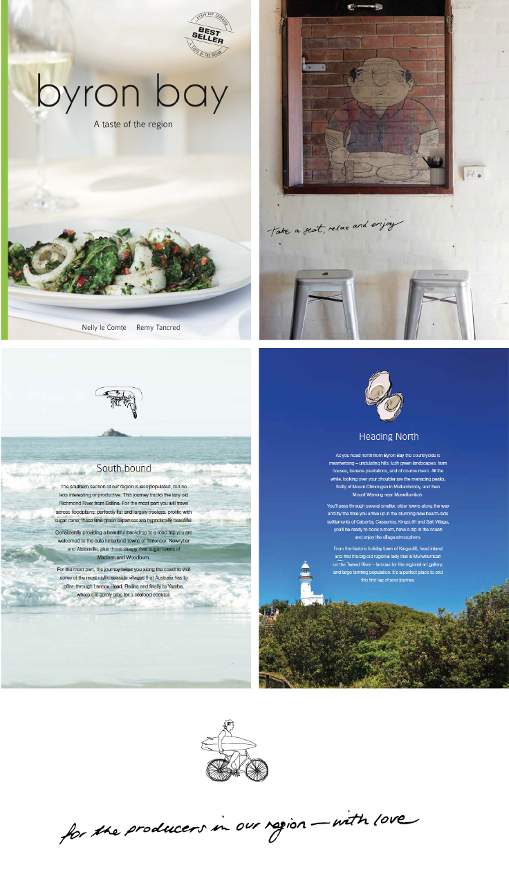 Byron Bay Cookbook - Bestselling Cookbook now up to issue 3 with illustrations and design by Kymba