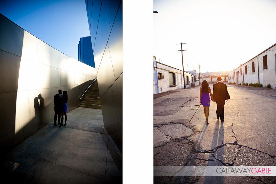 Disney Center Engagament Photos with a hint of James Bond