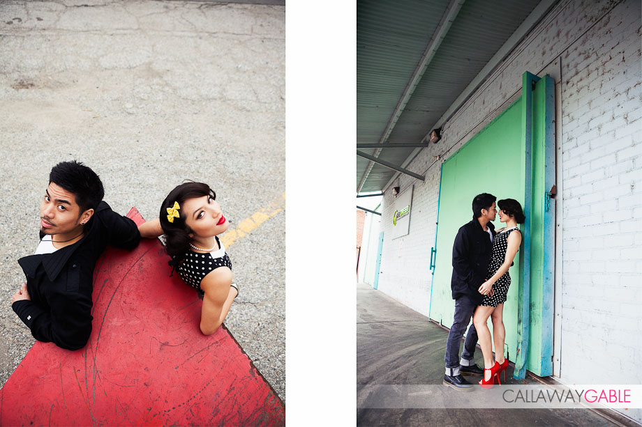 Downtown Los Angeles Fashion Engagement Shoot