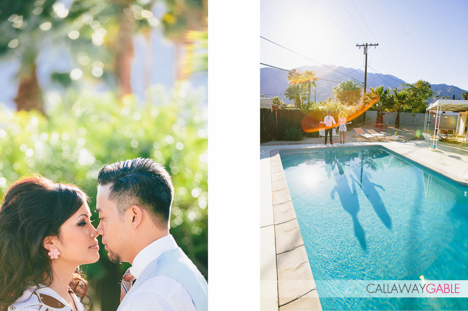 1960s Inspired Engagement in Palm Springs by Callaway Gable