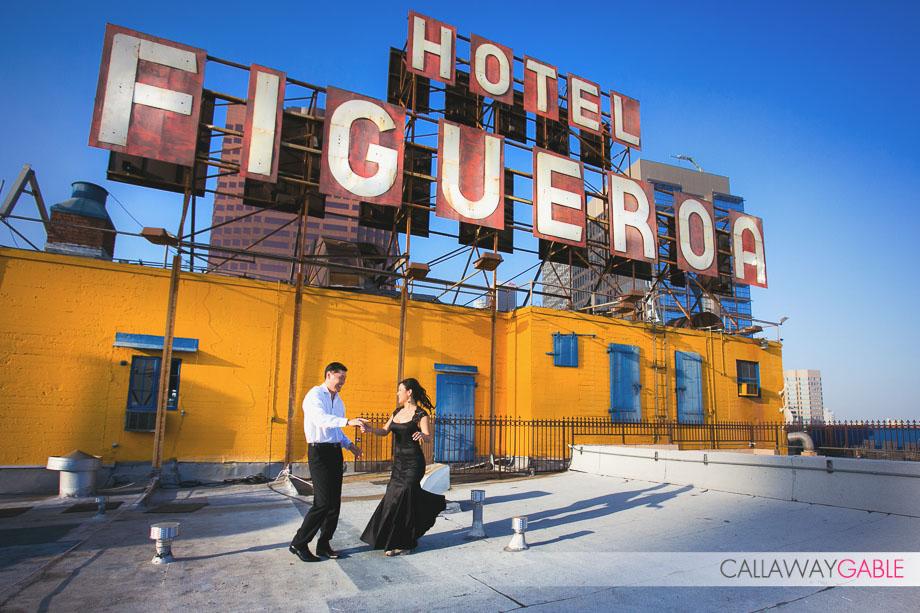 Figueroa Hotel Engagement Photos