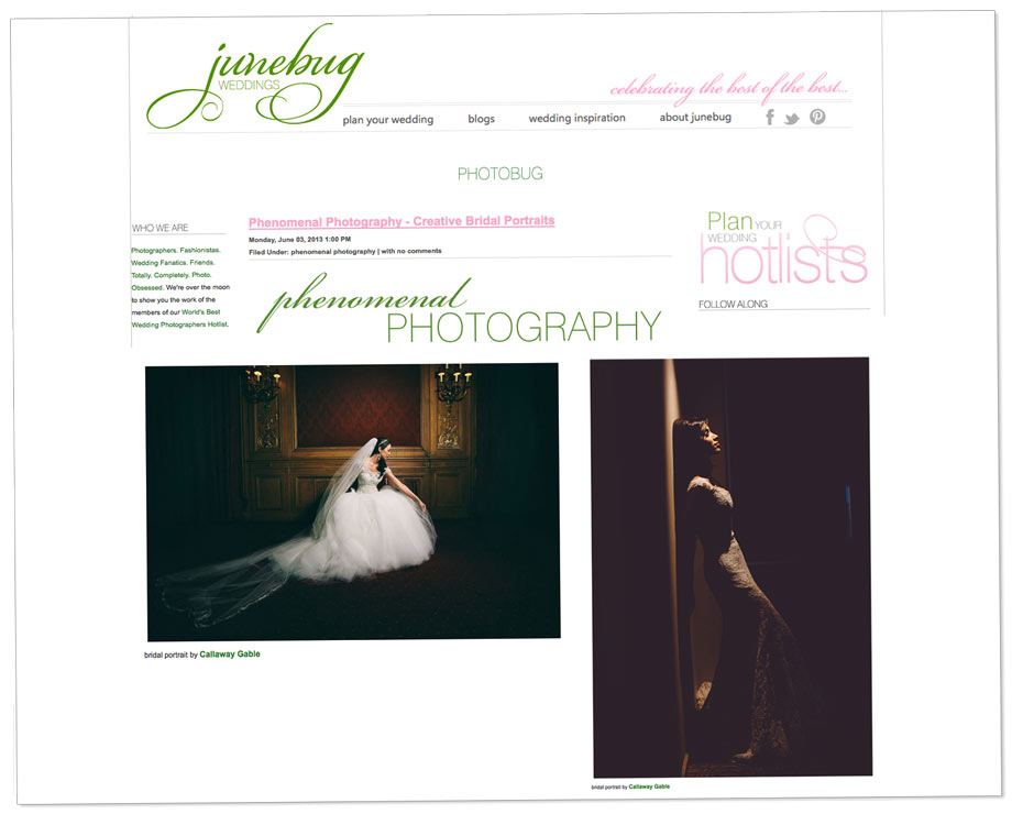Junebug Weddings Phenomenal Wedding Photos - Creative Bridal Portraits