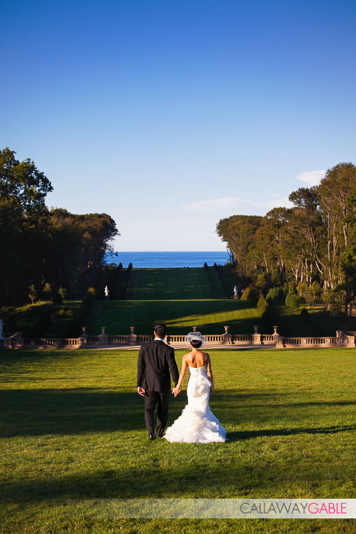 Crane Estate and Castle Hill Wedding Grand Allee Wedding