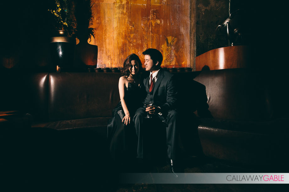 Downtown LA Engagement Photos at The Edison by Callaway Gable