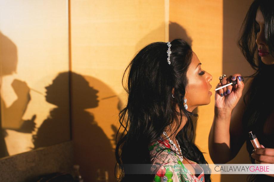 Bridal Prep at the Ritz Carlton Hotel in Los Angeles