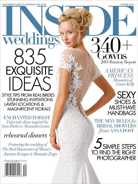 Inside Weddings Cover Winter 2014