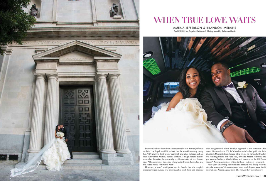 Gorgeous Vibiana Wedding in Inside Weddings Callaway Gable Page 2